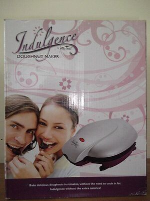 Indulgence Electric Doughnut Maker BOXED New Sealed