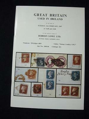 Robson Lowe Auction Catalogue 1967 Gb Used In Ireland