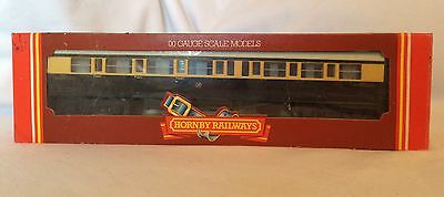 Vintage Hornby Uk R456 Gwr Composite Coach Chocolate Cream Boxed Vgc