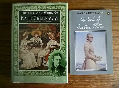 2 books Tale of Beatrix Potter by Margaret Lane, Life and Work of Kate Greenaway