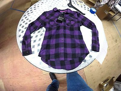 96273-16VW/000L Harley-Davidson® Women's Buffalo Long Sleeve Plaid Shirt, Purple