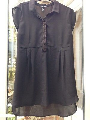 C H&M Mama Maternity Top Size 14 16 Beaded