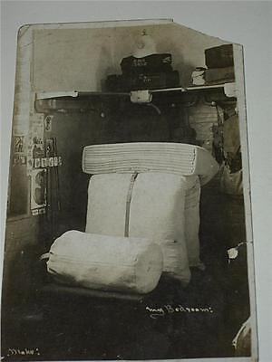 Royal Marine Artillery Soldier's Bedroom 13452 - Ww1 Military Rp Photo Postcard!