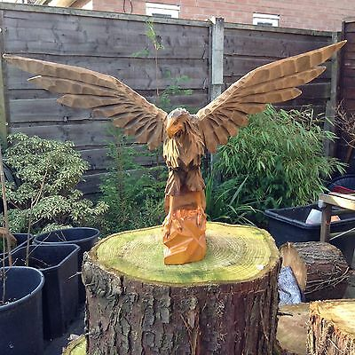 Large Wooden Carved Eagle