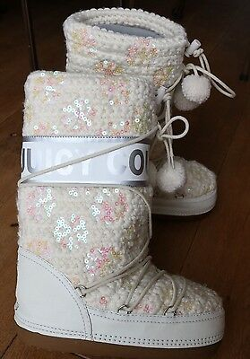 JUICY COUTURE Apres SKI SNOW Moon Thermal  BOOTS UK6 MUST SEE Genuine Worn Once
