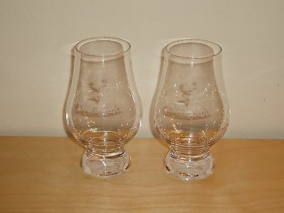 2 x The Glenfiddich Stencilled Branded Whisky Glasses (New)