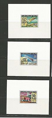 Libya Scott 675-7 Mnh Imperf Sheets Scv $45+
