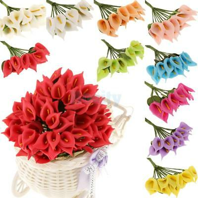 144Pcs Artificial Calla Lily Flowers Bouquet Wedding Bridal Garden Home Decor