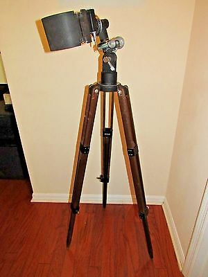 Vintage Wooden  Tripod Metal & Wood Adjustable Stand for telescope lamp?