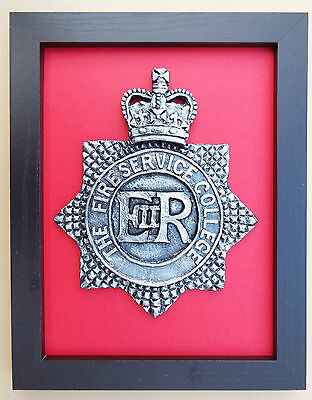 Large Scale Framed FIRE SERVICE COLLEGE Badge Plaque Crest