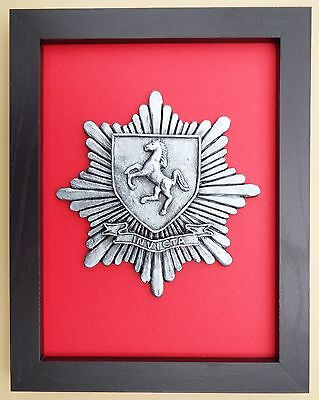 Large Scale Framed KENT FIRE & RESCUE SERVICE Badge Plaque