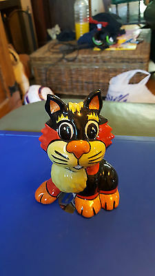 LORNA BAILEY Cat signed blue open day 3/6 FREE P&P Excellent Condition %