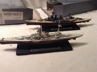 Atlas Editions Battleships, Scharnhorst & HMS Hood, Excellent Condition, Boxed.