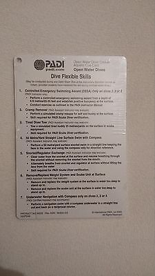 PADI Open Water Cue Cards - Open Water Dives