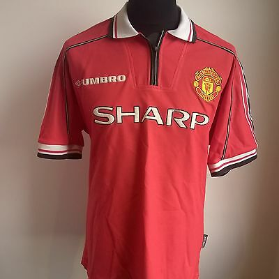 Manchester United 1998 Home Football Shirt Umbro Jersey Size Adult Xl