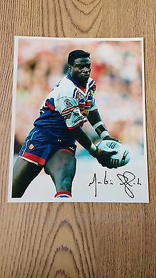 Martin Offiah - Great Britain & Wigan 1994 Signed Rugby League Press Photograph
