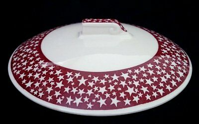 Calif Pottery / Vernon Kilns: ROCKWELL KENT 'OUR AMERICA' Chowder Lid, Burgundy
