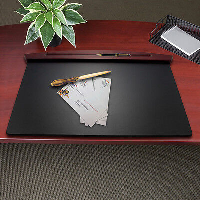 Rolodex Executive Woodline II Desk Pad Protector Cover Ink Blotter Wood Surface