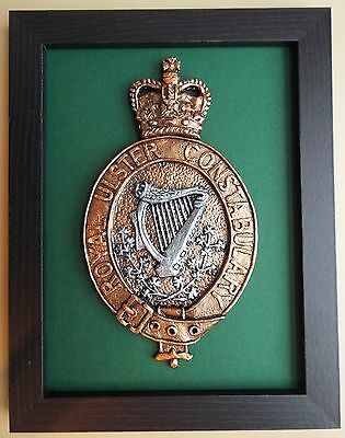 Large Scale Framed ROYAL ULSTER CONSTABULARY BADGE - RUC Northern Ireland