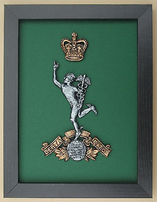 Large Scale Framed Royal Corps of Signals Cap Badge