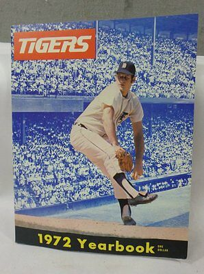 Vintage 1972 Detroit Tigers Baseball Yearbook