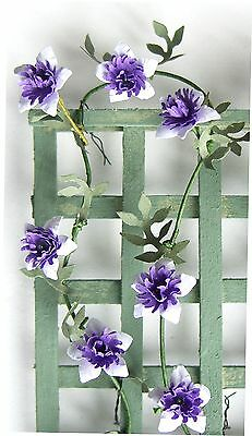 FLOWER KIT Clematis Passion flower DOLLS HOUSE DIY miniature  plant 12th scale