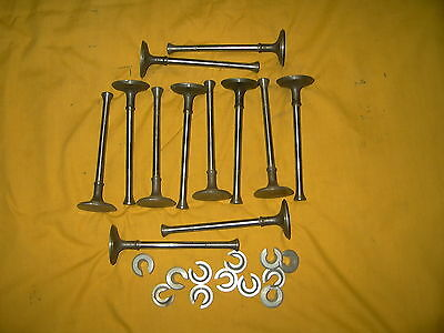 Ford Flathead 6 Cylinder 12 Valves And 12 Keepers  Nos Ford Mfg.