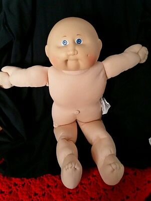 """Coleco Cabbage Patch Kids*16""""*Baldie* Freckles Blue Eyes #2HM*P tags*GUC"""