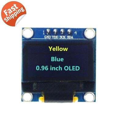 "0.96"" I2C IIC Serial 128X64 Yellow Blue OLED LCD LED Display Module for Arduino"