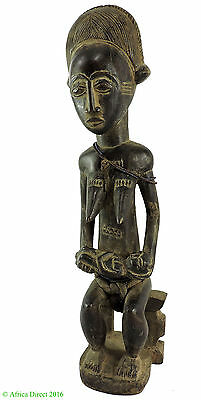 Baule Seated Maternity Figure African Art 21 Inch SALE WAS $290