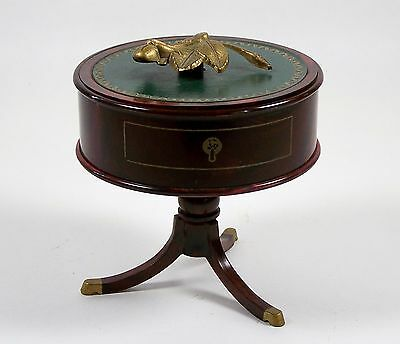 Vintage Doll Table w/Storage Victorian Style Center Table Trinket Box Faux Wood