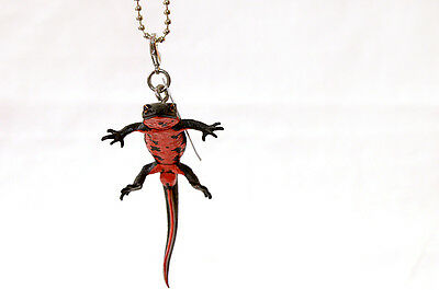 Kitan Club Nature Techni Japanese Black fire belly newt keychain New US seller