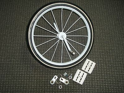 """-NOS- Vtg. Front TRICYCLE WHEEL w/ Bearings & Pedals 16"""" x 1.25 /Western Auto"""