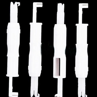 White Automatic Machine Sewing Needle Device Threader Thread Guide Useful
