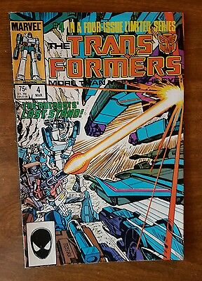 Transformers #4 Marvel March 1985 Very Fine