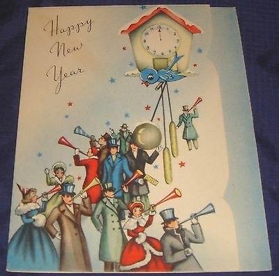 SE465 Vtg Happy New Years Greeting Card