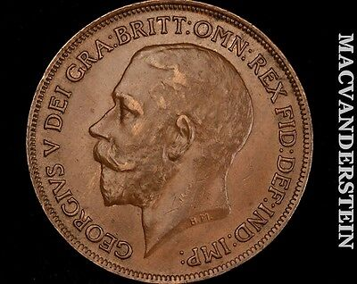 1921 George V  Penny- No Reserve !! Better Date !! #q737