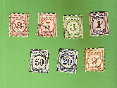#D291. #4. Small Lot Of Stamps - Malayan Postal Union
