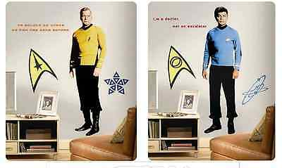 Star Trek Captain Kirk & Dr Mccoy Huge Wall Reuseable Decal Stickers +14 Extras