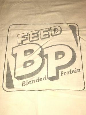 Vintage BP Feed Blended Protein Fabric Feed Sack  E