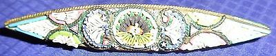 RP1829 Vtg Handcrafted Mosaic Broach Pin