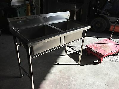 Commercial 2 Bowls Stainless Steel Grade 304 Sink (New)