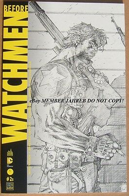 BEFORE WATCHMEN COMEDIAN Jim Lee SKETCH 1:200 B/W EURO VARIANT DC Rebirth Button