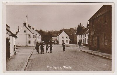 Angus postcard - The Square, Glamis - RP