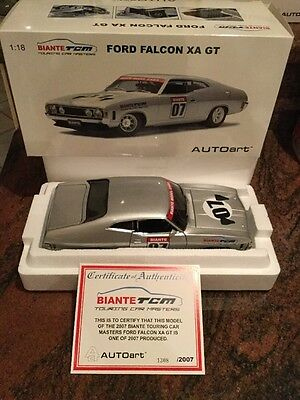 1:18 Biante Ford XA GT Falcon Coupe #07 Historic Touring Car Series Silver