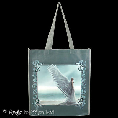 *SPIRIT GUIDE* Goth Angel Art Polypropylene Shopping Bag By Anne Stokes 39x35cm