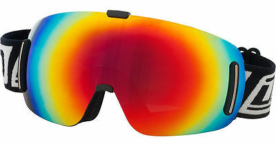 Dirty Dog Blizzard 54090 Frameless Snow Board Ski Goggles Red Gold Fusion Mirror