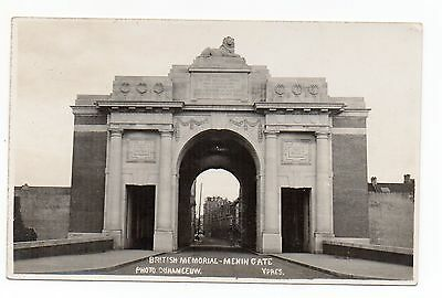 Old Postcard British Memorial Menin Gate Ypres Photo Duhameeuw