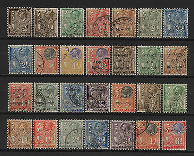 Malta 1926 - 1930 Collection 28 KGV Stamps Used