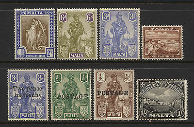 Malta Collection 8 Early Stamps Mounted Mint